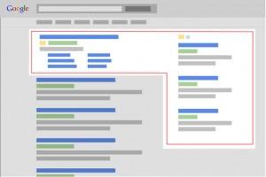 La página de resultados de búsqueda de Google antes del cambio