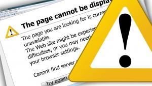 error en sitio web